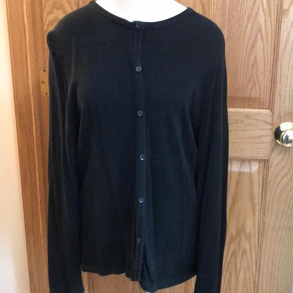 croft & barrow Sweaters - Croft & barrow black button down sweater